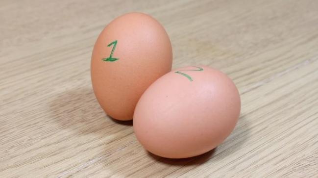 Phân biệt trứng sống, trứng chín