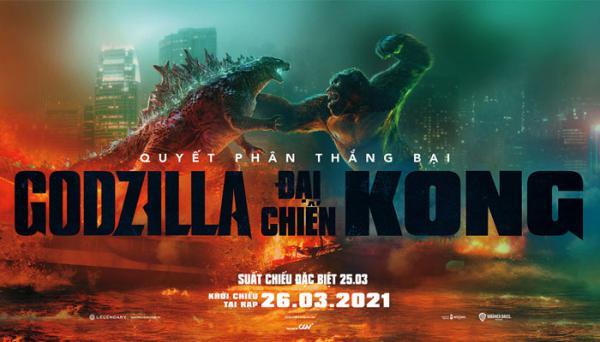 Godzilla vs. Kong - Godzilla đại chiến Kong (bộ phim lẻ hay đề tài quái vật)