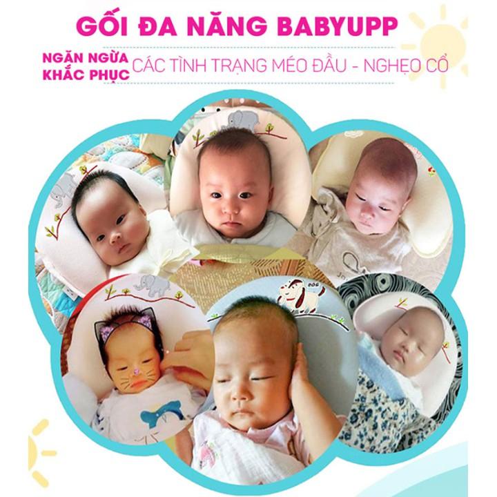 Gối chống bẹp đầu cho bé Babyupp