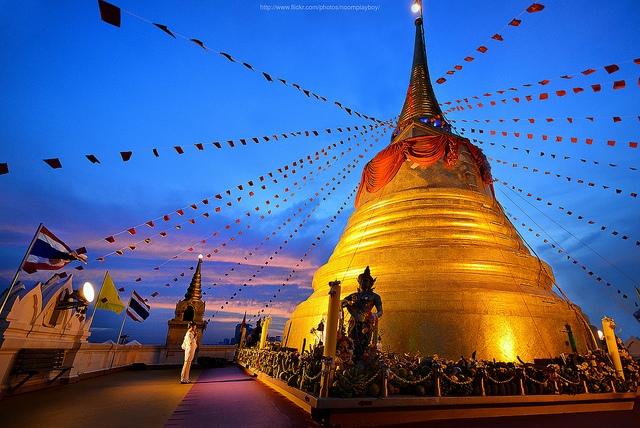 Chùa Núi Vàng - Wat Saket.