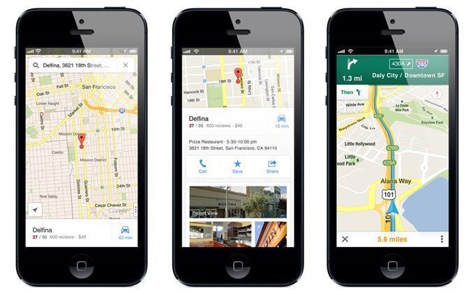 Ứng dụng Google Maps trên iPhone