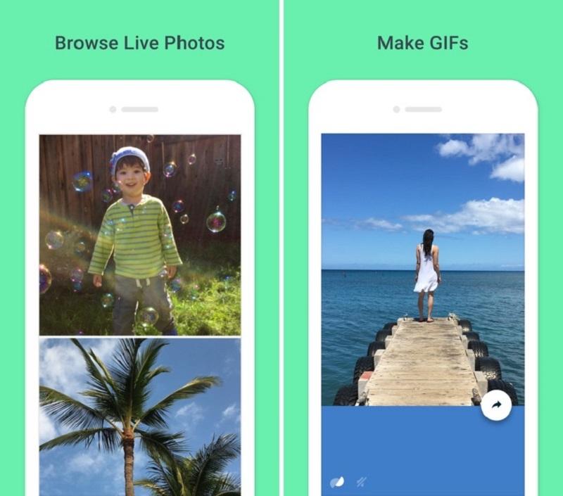 Giao diện ứng dụng Google Motion Stills