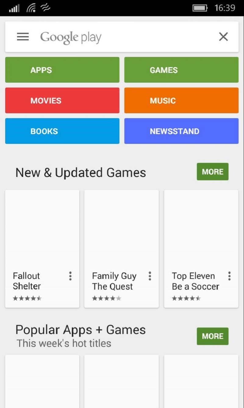 Ứng dụng Google Play sách