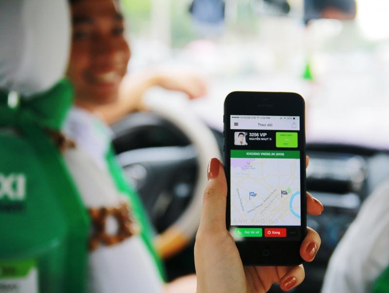 Ứng dụng Grab Taxi trên điện thoại