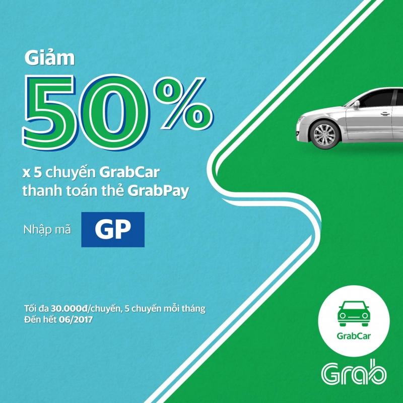GrabCar tiện lợi hơn khi dùng GrabPay