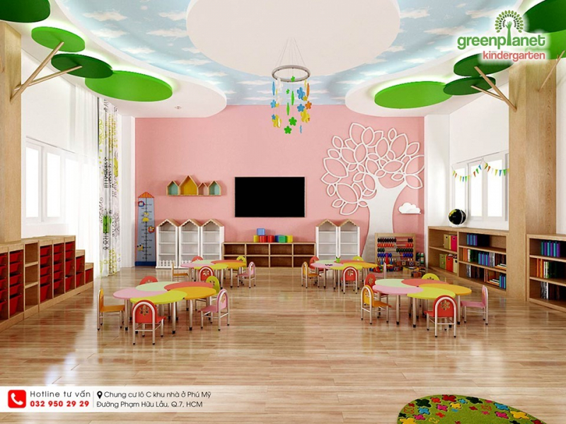 Cơ sở vật chất hiện đại, xây dựng môi trường học tập và vui chơi tốt nhất cho trẻ