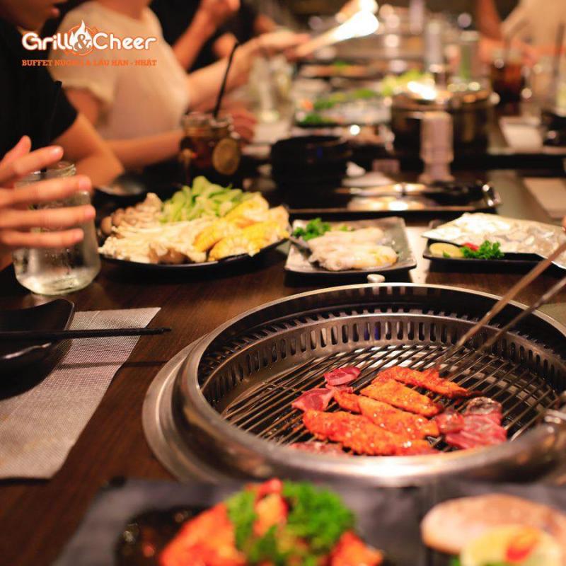 Grill & Cheer phục vụ nhiều mức giá để khách hàng dễ dàng chọn gói buffet hiệu quả.