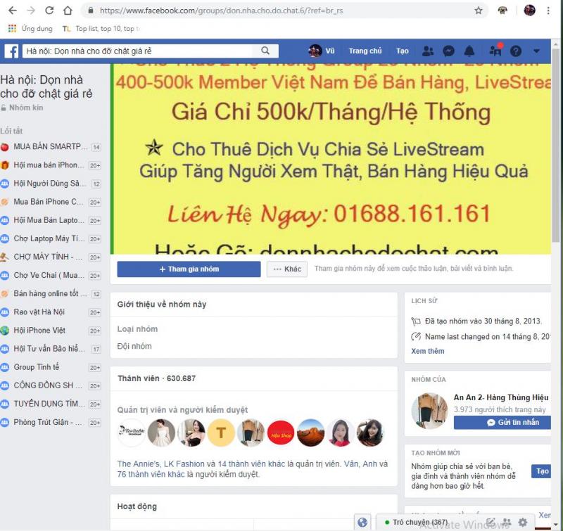 Group Hà Nội: dọn nhà cho đỡ chật giá rẻ