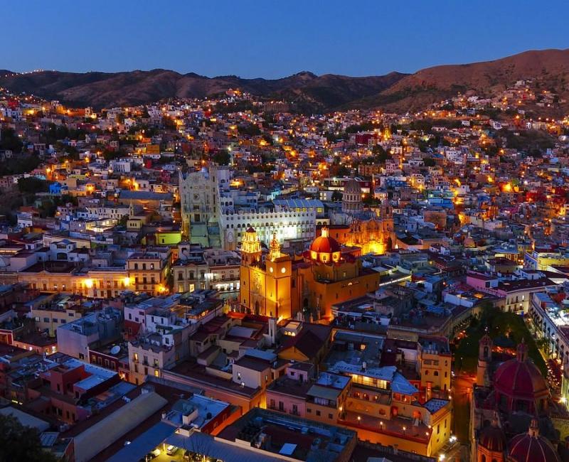 Guanajuato, Mexico về đêm