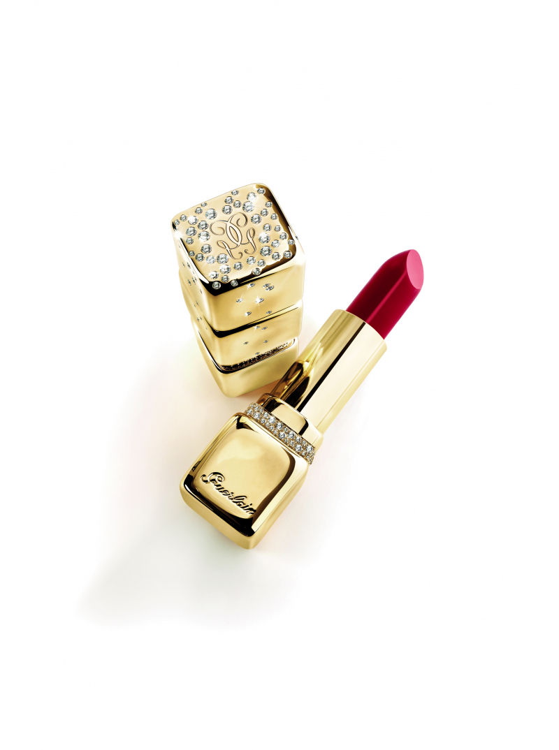 Guerlain Kiss Kiss gold and diamonds lipstick