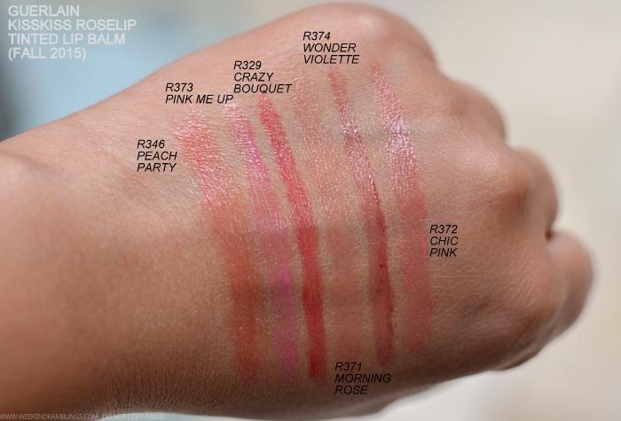Swatch các màu son Guerlain KissKiss Roselip ( nguồn internet)