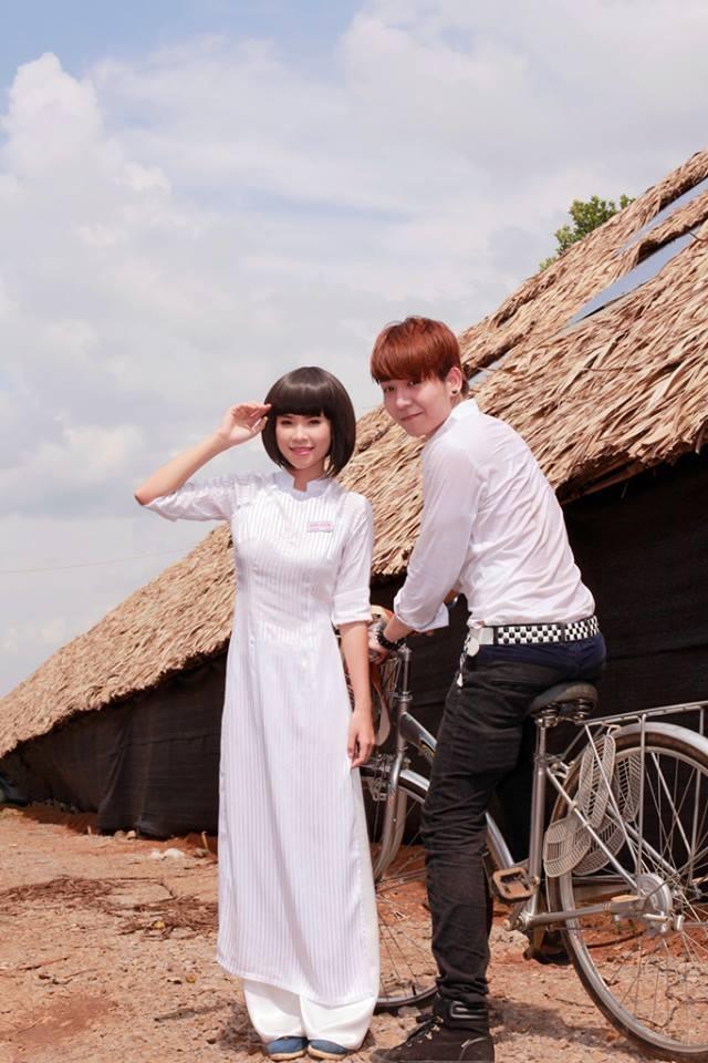 Hình ảnh bộ đôi siêu dễ thương trong MV Gửi cho anh
