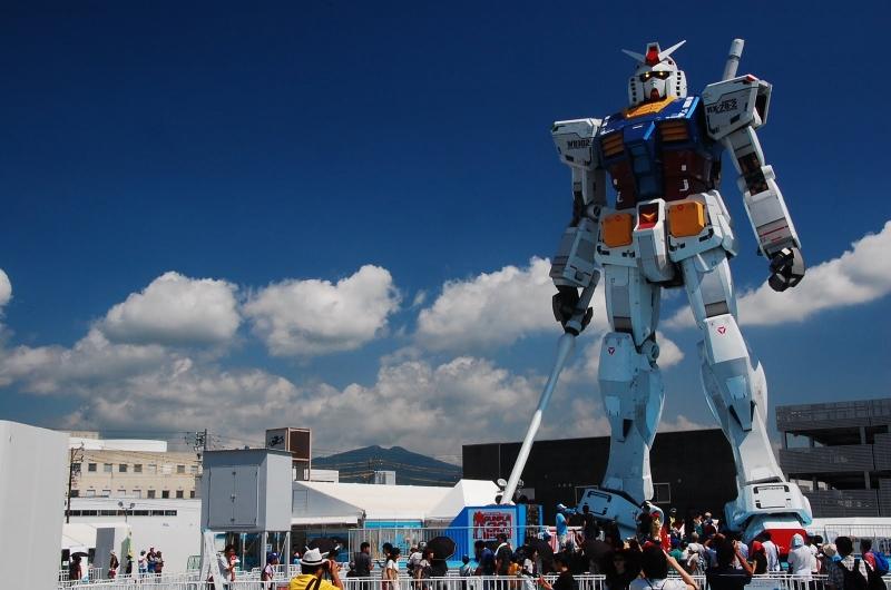 Gundam nằm giữa lòng thủ đô Tokyo.