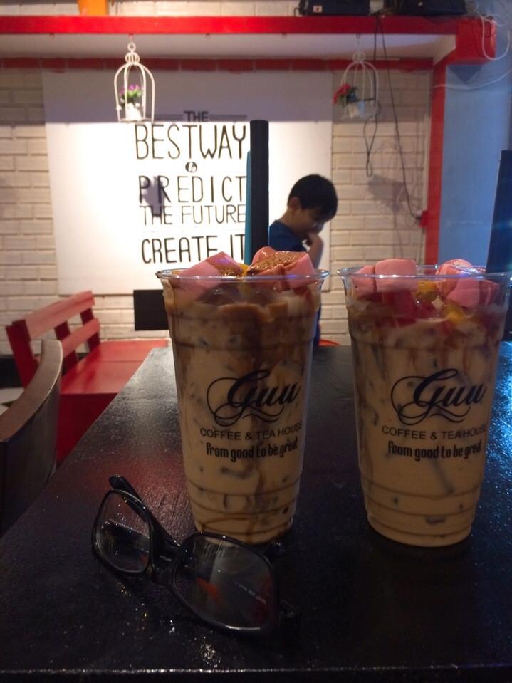 Trà sữa kẹo ở GUU một trong những món ngon và đặc biệt ở quán :))