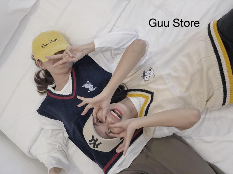 Mặt hàng được bày bán của Guu store