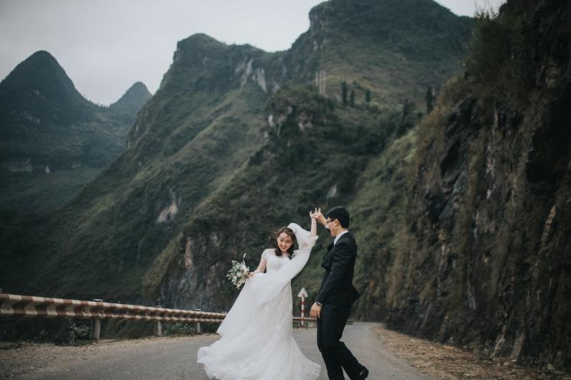 Chụp ảnh cưới ở đèo Mã Pì Lèng Hà Giang