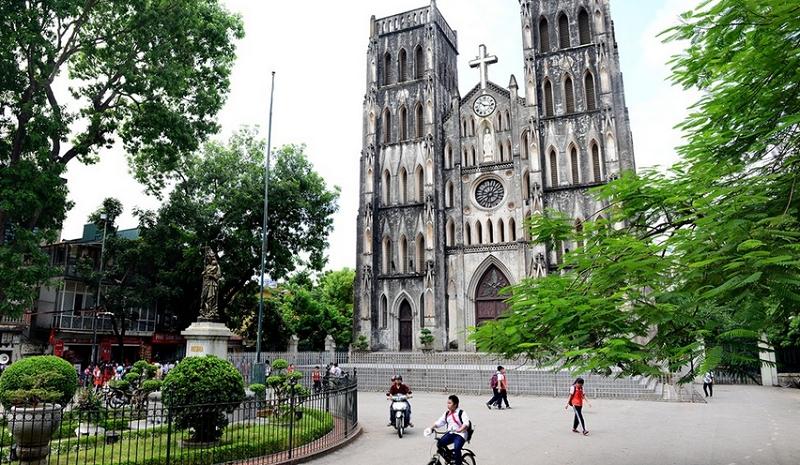 Một góc nhà thờ ở Hà Nội