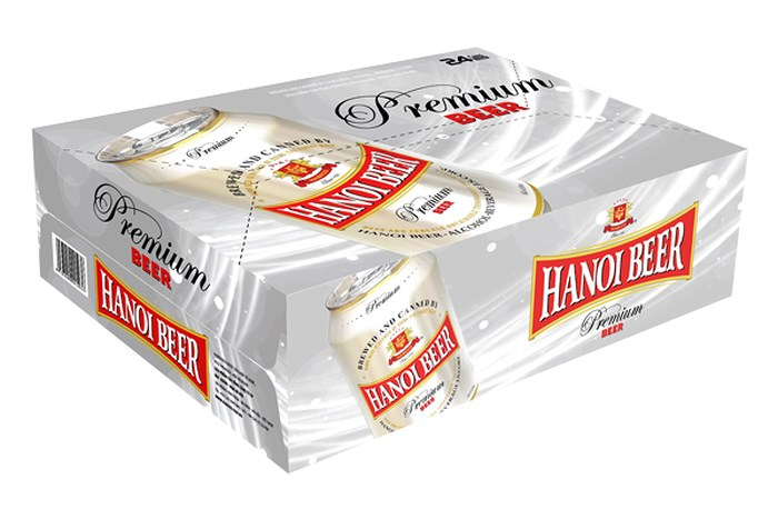 Habeco Hanoi Beer Premium (Việt Nam, Thùng 24 Lon 330ml)