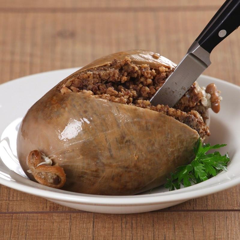 Haggis được chế biến khá cầu kỳ khi phải luộc trong vòng 3 tiếng