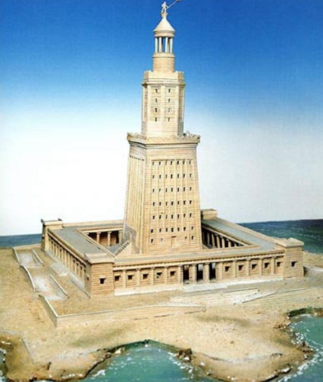 Hải đăng Alexandria được xây dựng vào thế kỷ thứ 3 trước Công nguyên