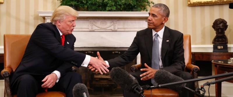 Ông Donald Trump - người kế nhiệm sẽ có cuộc họp ngắn với ông Obama - người mãn nhiệm