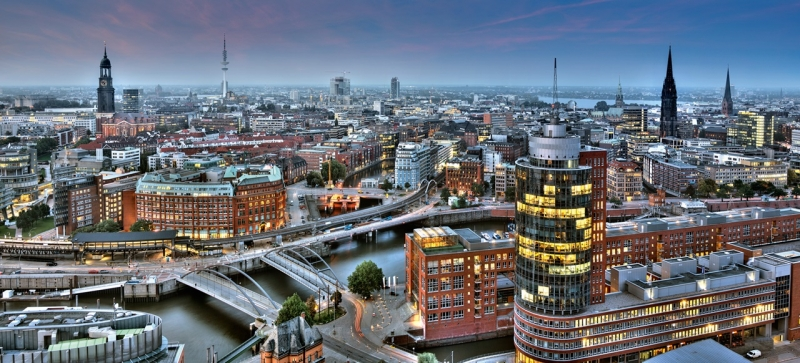 Hamburg, Đức nhìn từ trên cao