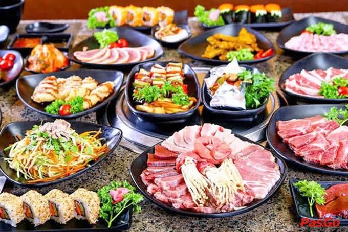 Hàn Quốc Quán có rất nhiều món tự chọn