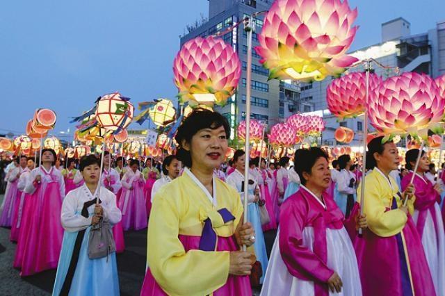 Lễ Phật Đản ở Hàn Quốc.