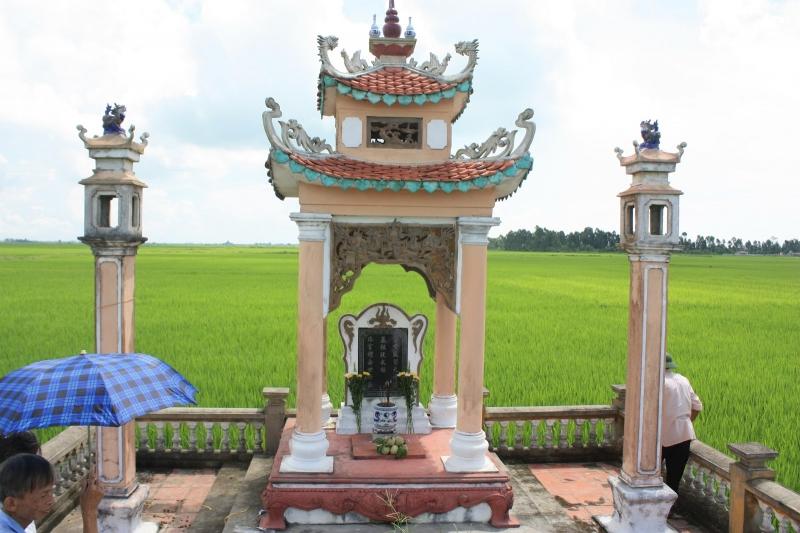 Nơi an nghỉ của danh nhân Hàn Thuyên tại làng Lưu Đồn, xã Thụy Hồng, huyện Thái Thụy, tỉnh Thái Bình