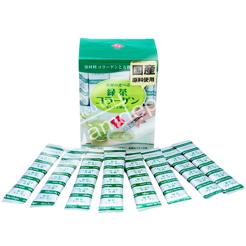 HANAMAI - Green Tea Collagen - Collagen Dạng Bột Chiết Xuất Từ Trà Xanh: