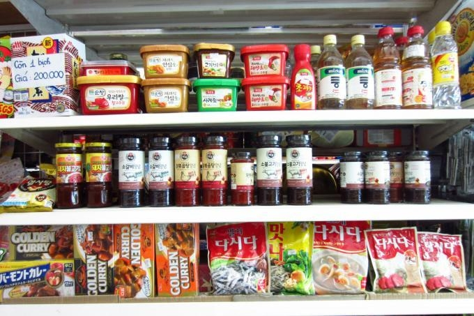 Khang Nam cung cấp đa dạng các loại thực phẩm Hàn Quốc
