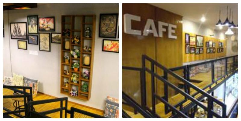 Không gian quán Hands Cafe