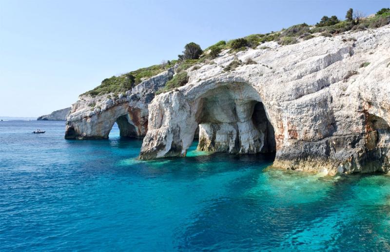Hang Blue (Hang Xanh), Hi Lạp