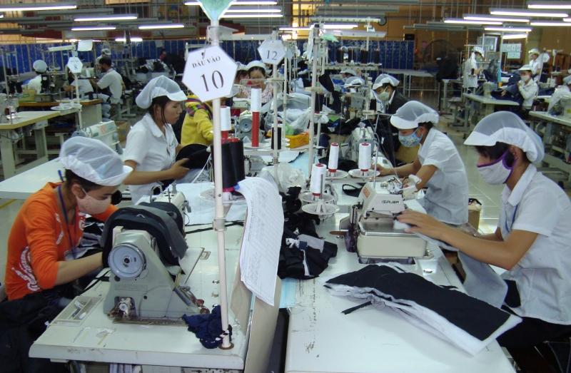 Các xưởng may hàng xuất khẩu