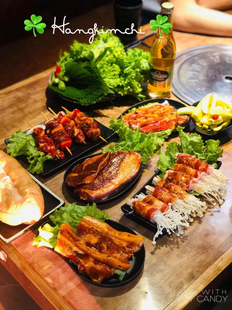 Đồ nướng được  sử dụng những thực phẩm tươi, chất lượng, cùng thực đơn ăn kèm đa dạng.