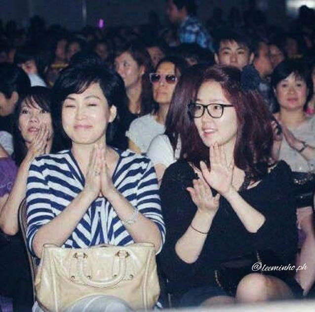 Mẹ và chị gái Lee Min Ho