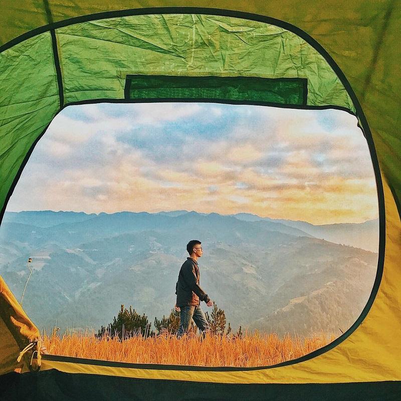 Đến Mù Cang Chải các bạn có thể mang theo lều để nghỉ ngơi