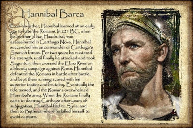 Danh tướng Hanibal Barca.