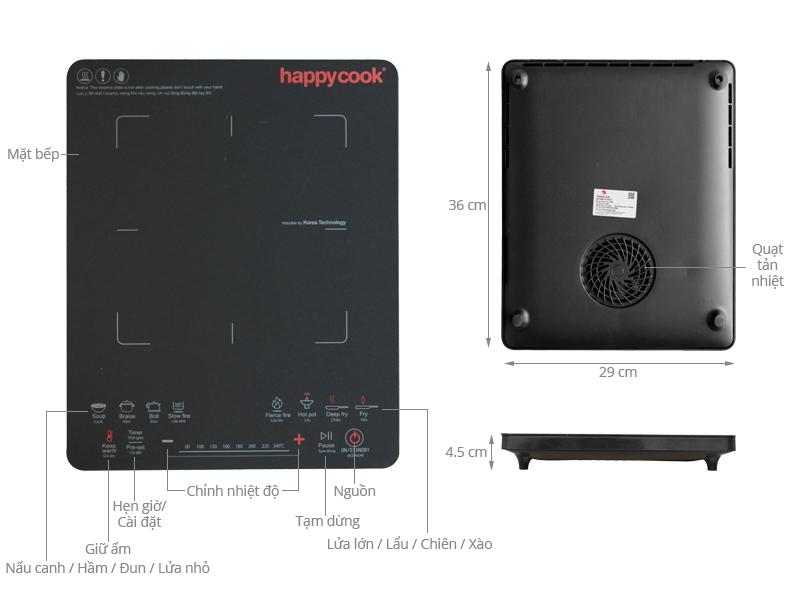 Bếp từ Happycook HC-2100V