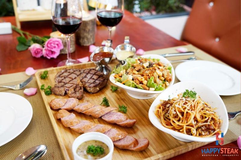 Happy Steak chuyên phục vụ các món ăn Âu
