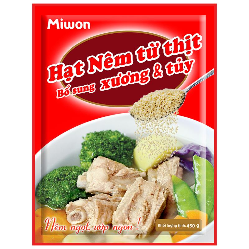 Hạt nêm từ thịt bổ sung xương và tủy Miwon