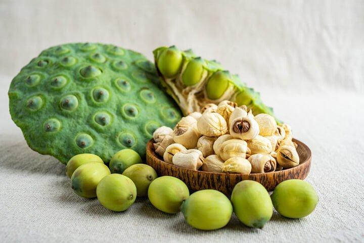 Trong hạt sen có chứa thành phần glucozit và chất kiềm giúp an thần, dễ ngủ