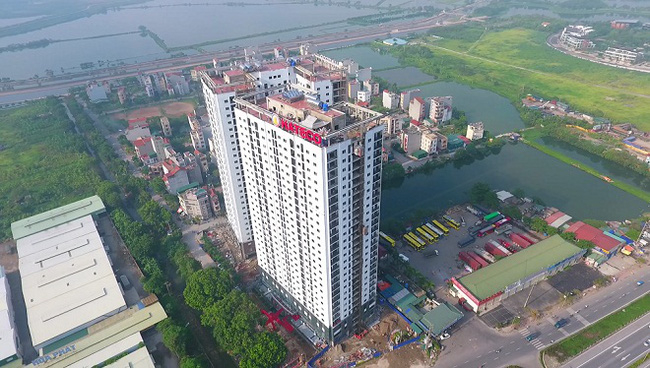 Chung cư Hateco Hoàng Mai nằm ở ngã ba Tam Trinh, mặt đường vành đai 3, liền kề công viên Yên Sở.