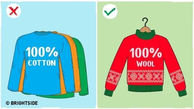 Hãy đảm bảo rằng bạn đang mặc đúng quần áo trong thời tiết lạnh