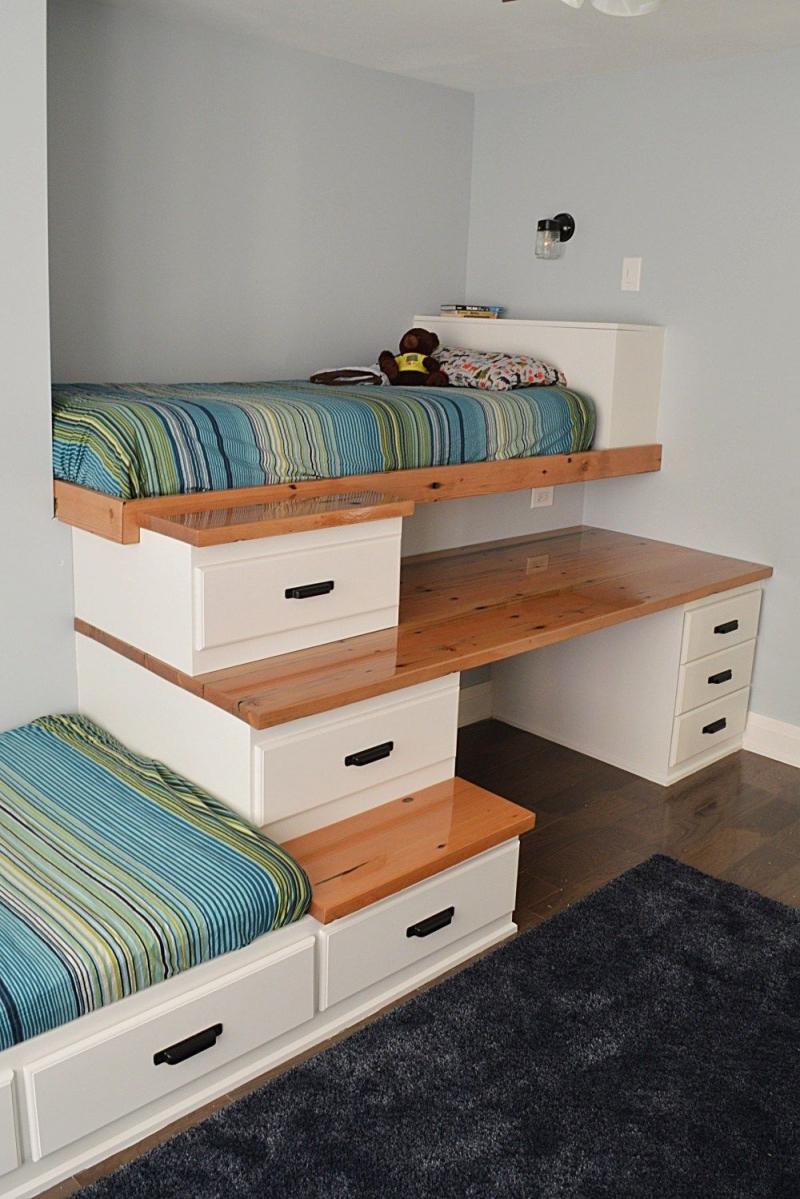 Hãy thử sử dụng đồ nội thất gắn sẵn để tiết kiệm không gian