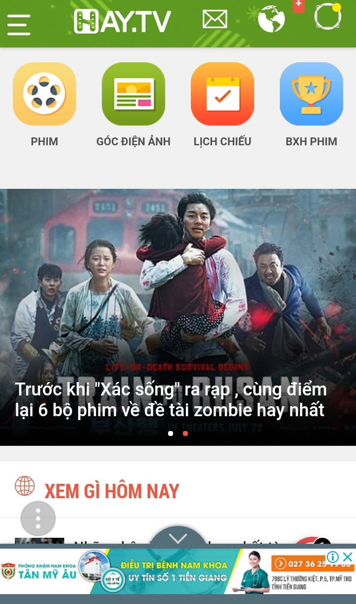 Giao diện Hay.tv