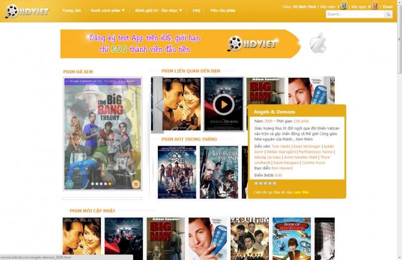 Kho phim đa dạng, nhiều thể loại phim tại Phim HD Việt