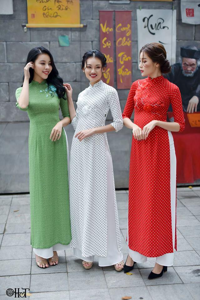Hội chị em du xuân cùng áo dài H&T