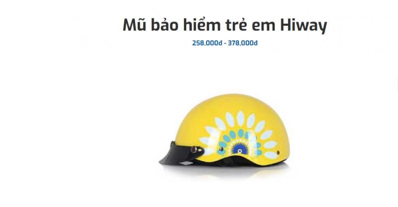 Mũ bảo hiểm trẻ em Hiway