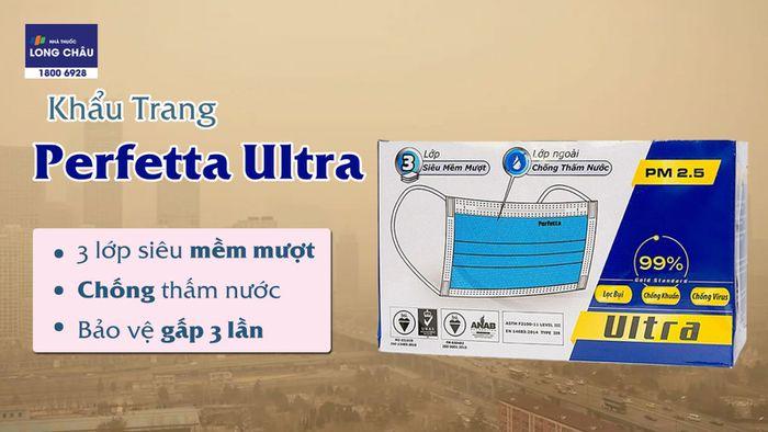 Khẩu Trang Perfetta Ultra Xanh 3 Lớp